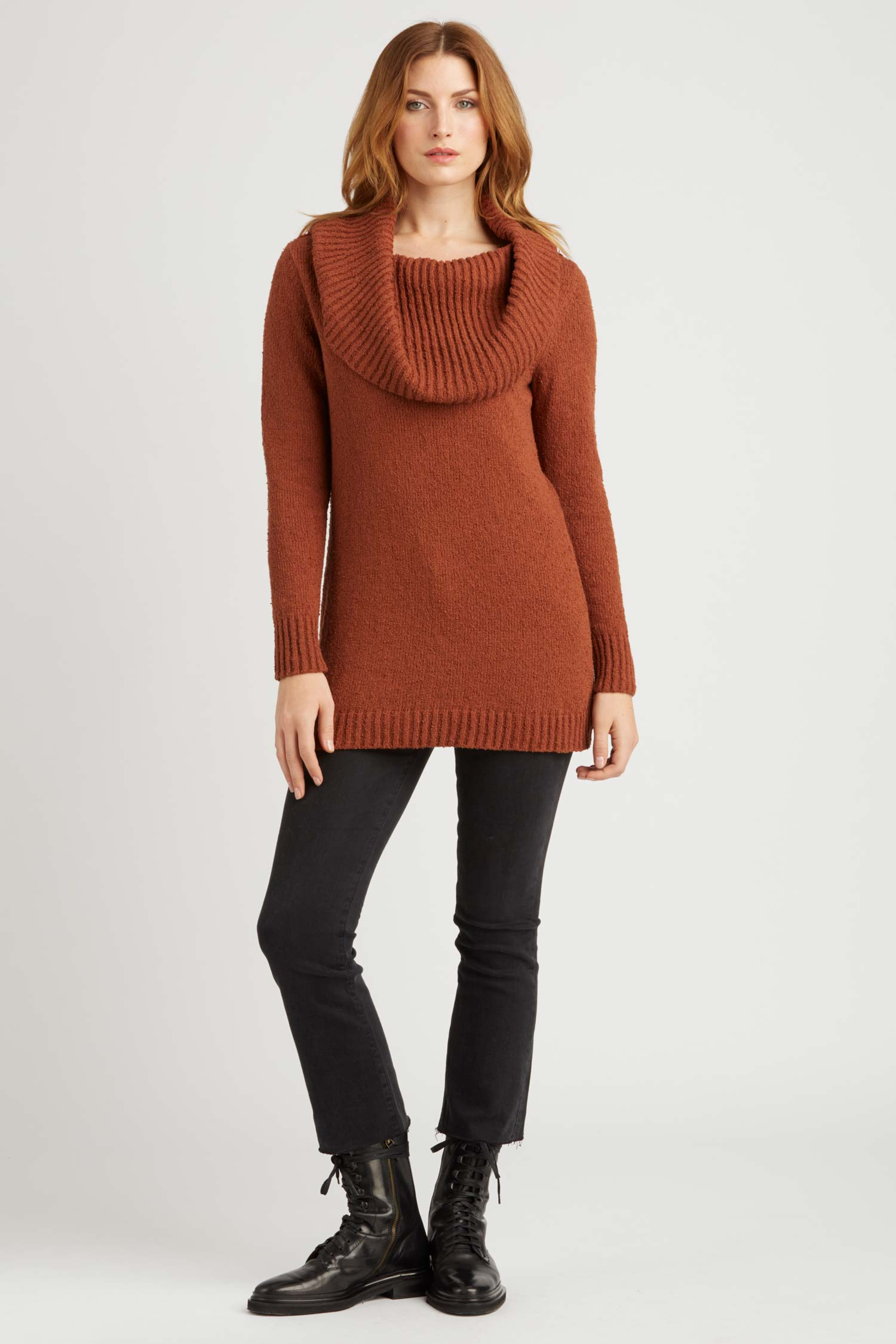 Womens Bardot Pullover Sweater | Organic Cotton Clothing