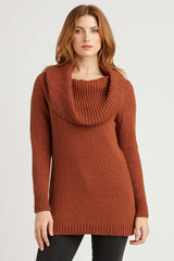 Womens Orange Knit Sweater | Organic Cotton Clothing