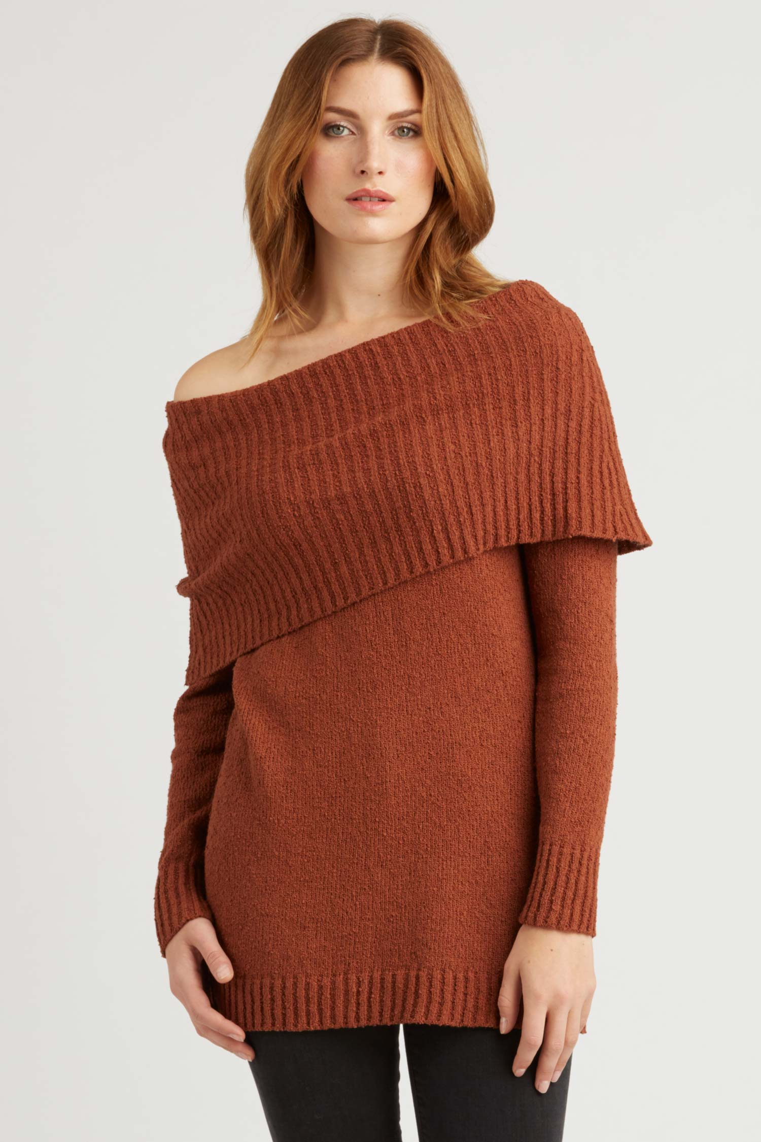 Womens Brown Sweater | Organic Cotton Knit Clothing