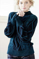 Plated Cable Pullover - Indigenous