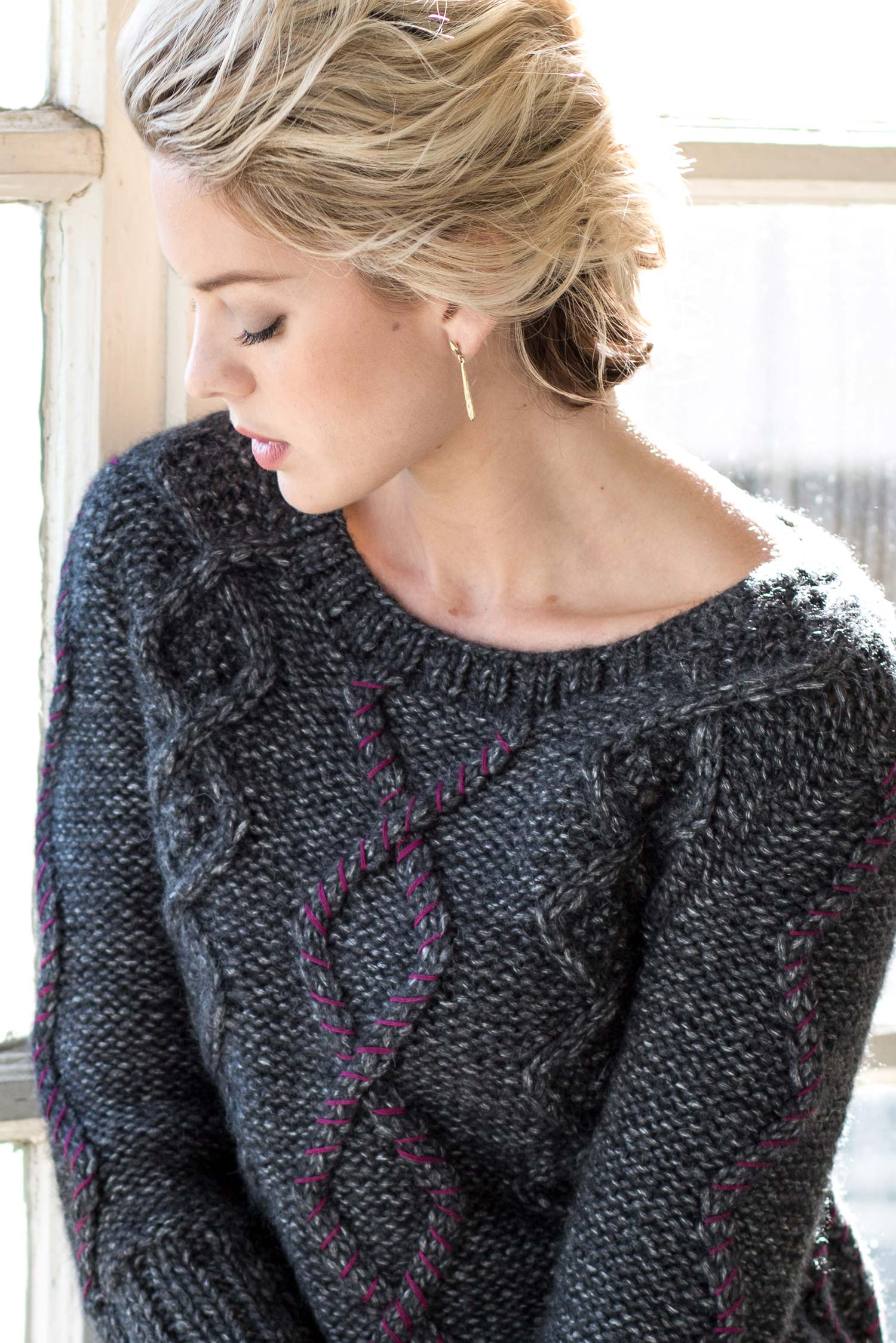 Womens Alpaca Sweater | Cable Fringe Pullover | Fair Trade Fashion