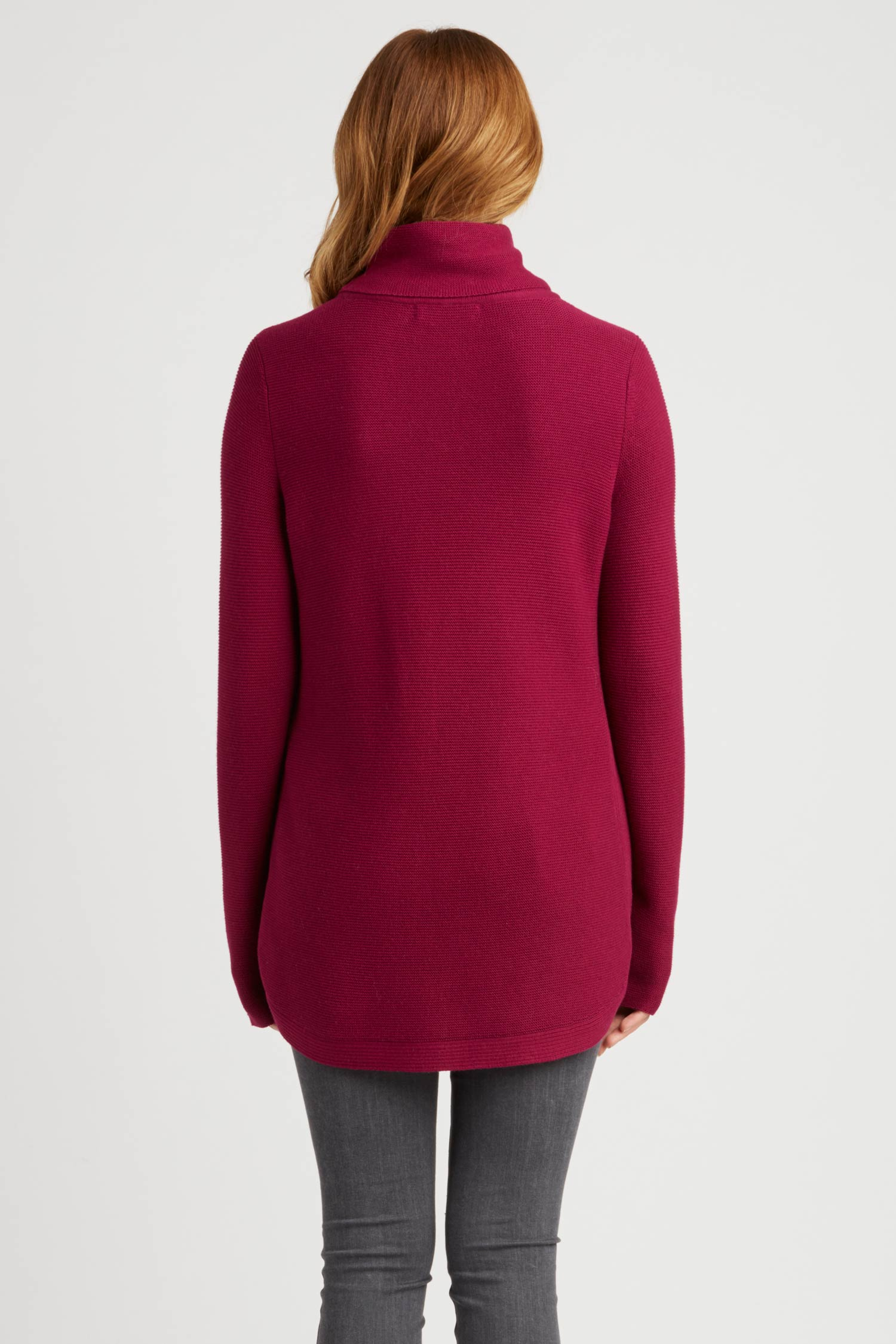 Womens Funnel Neck Sweater | Organic Cotton Clothing | Winterberry