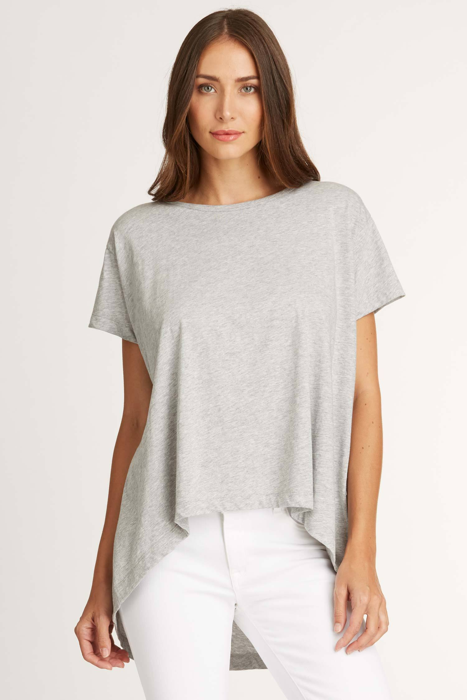 b3ab26dfdf5508 Women s T-Shirt Top Relaxed High Low Tee