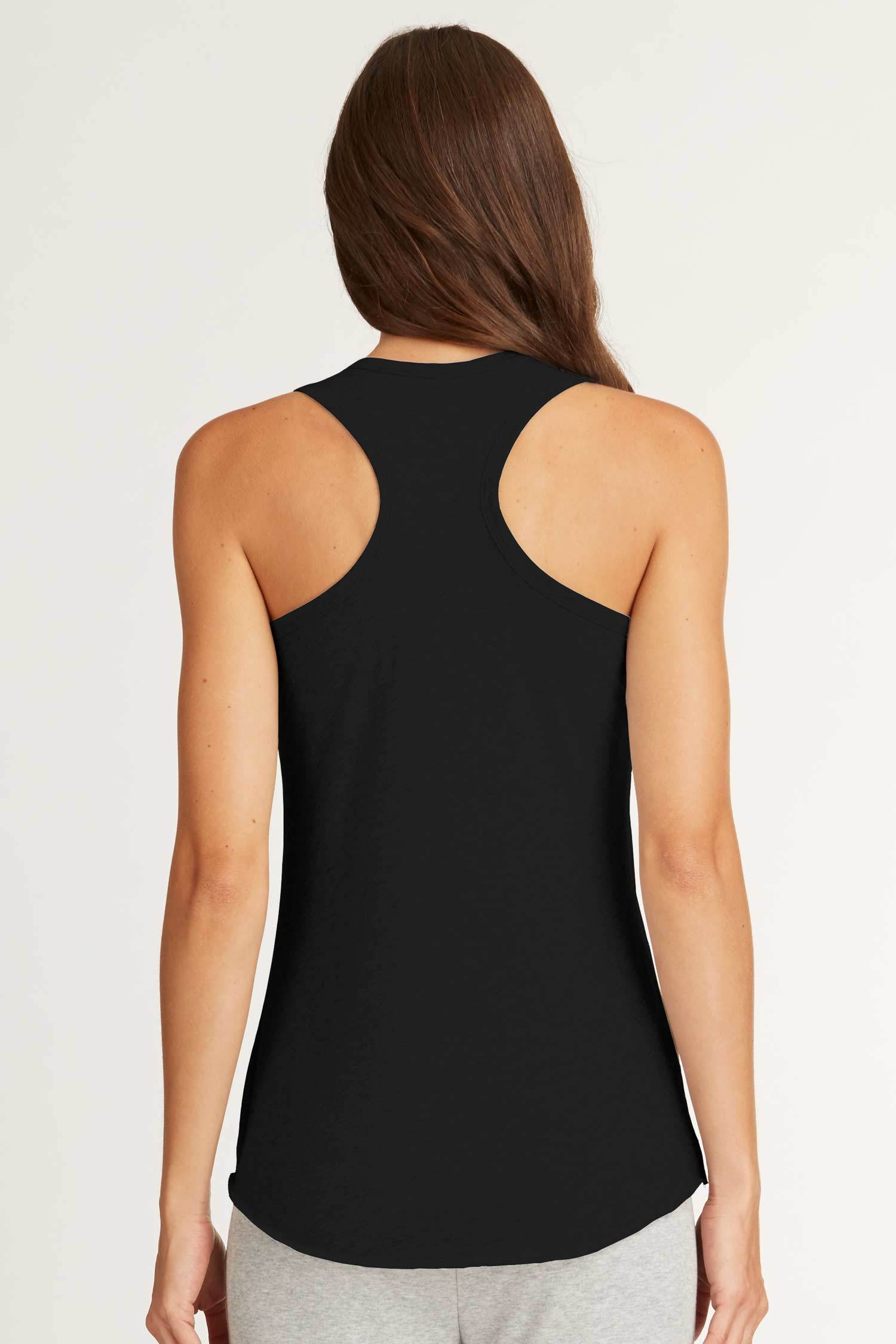Womens Organic Cotton Top | Racer Back Tank | Back