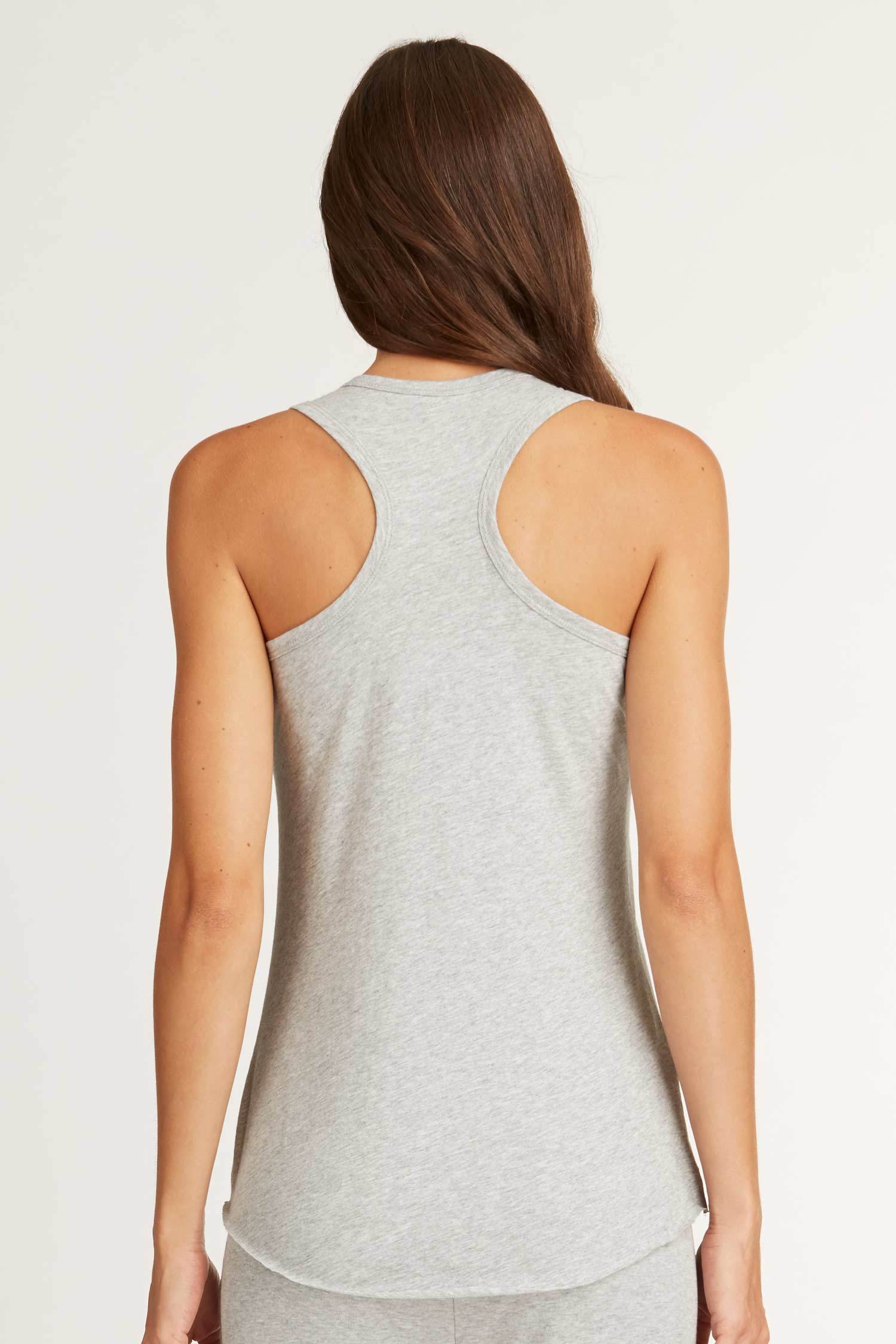 Womens Organic Cotton Top | Racer Back Tank | Gray