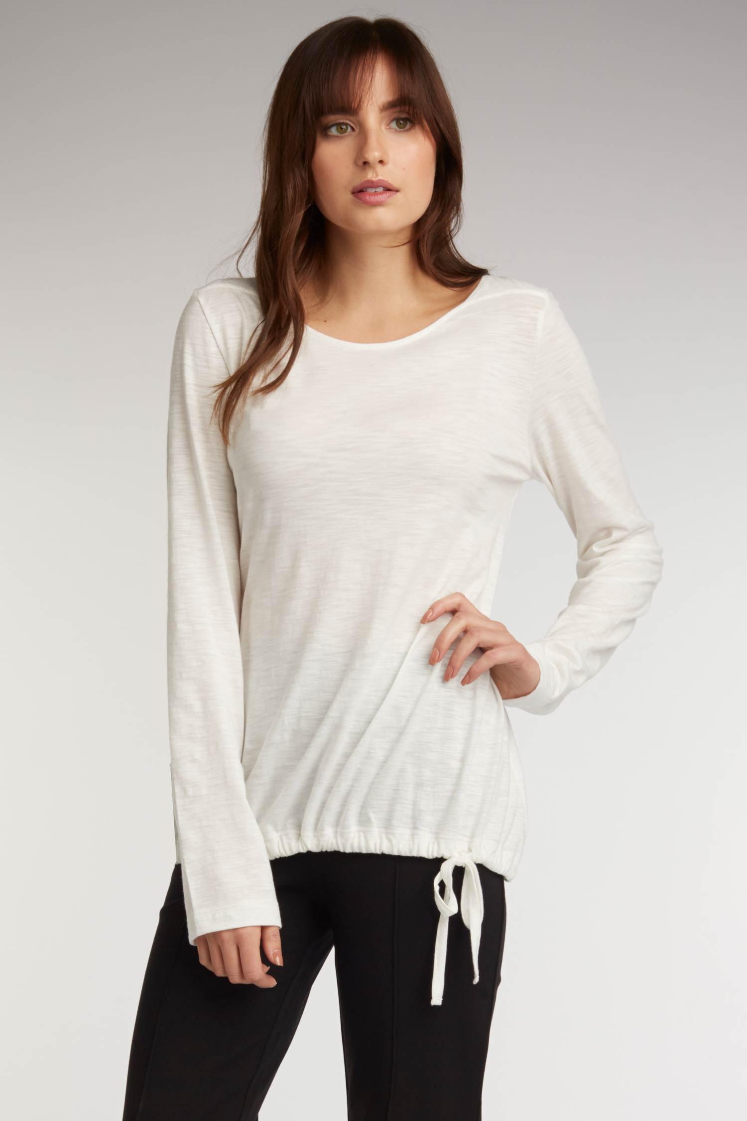 Side Tie Slub Top