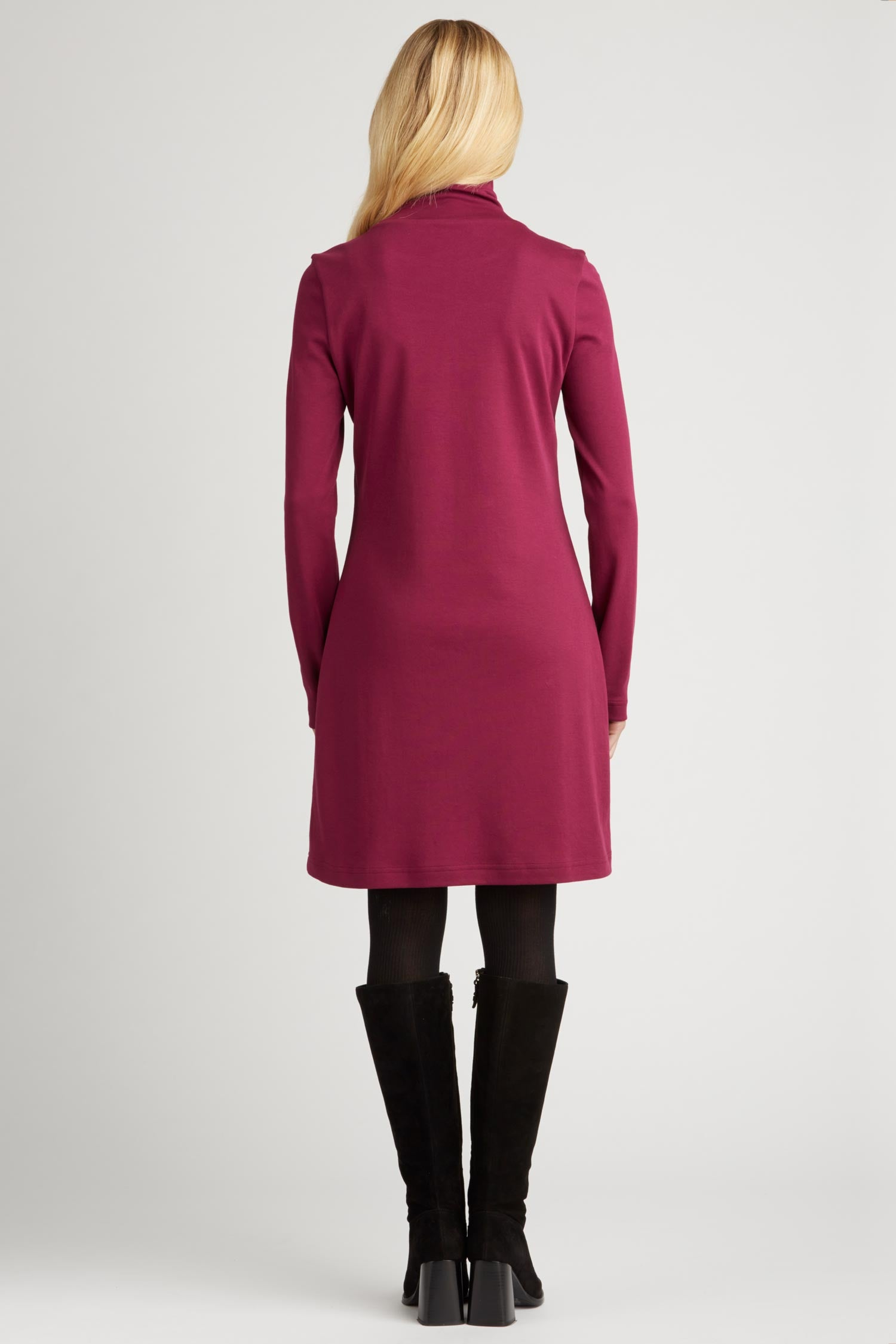 Womens Turtleneck Dress in Pink | Sustainable Fashion