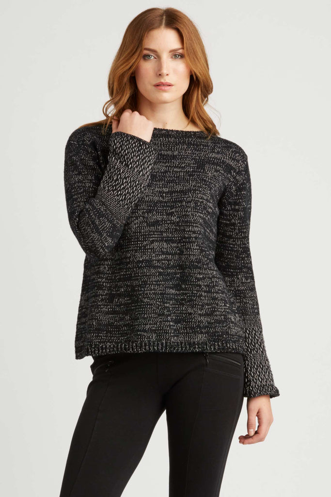 Womens Woven Cuff Knit Pullover | Fair Trade Sweater