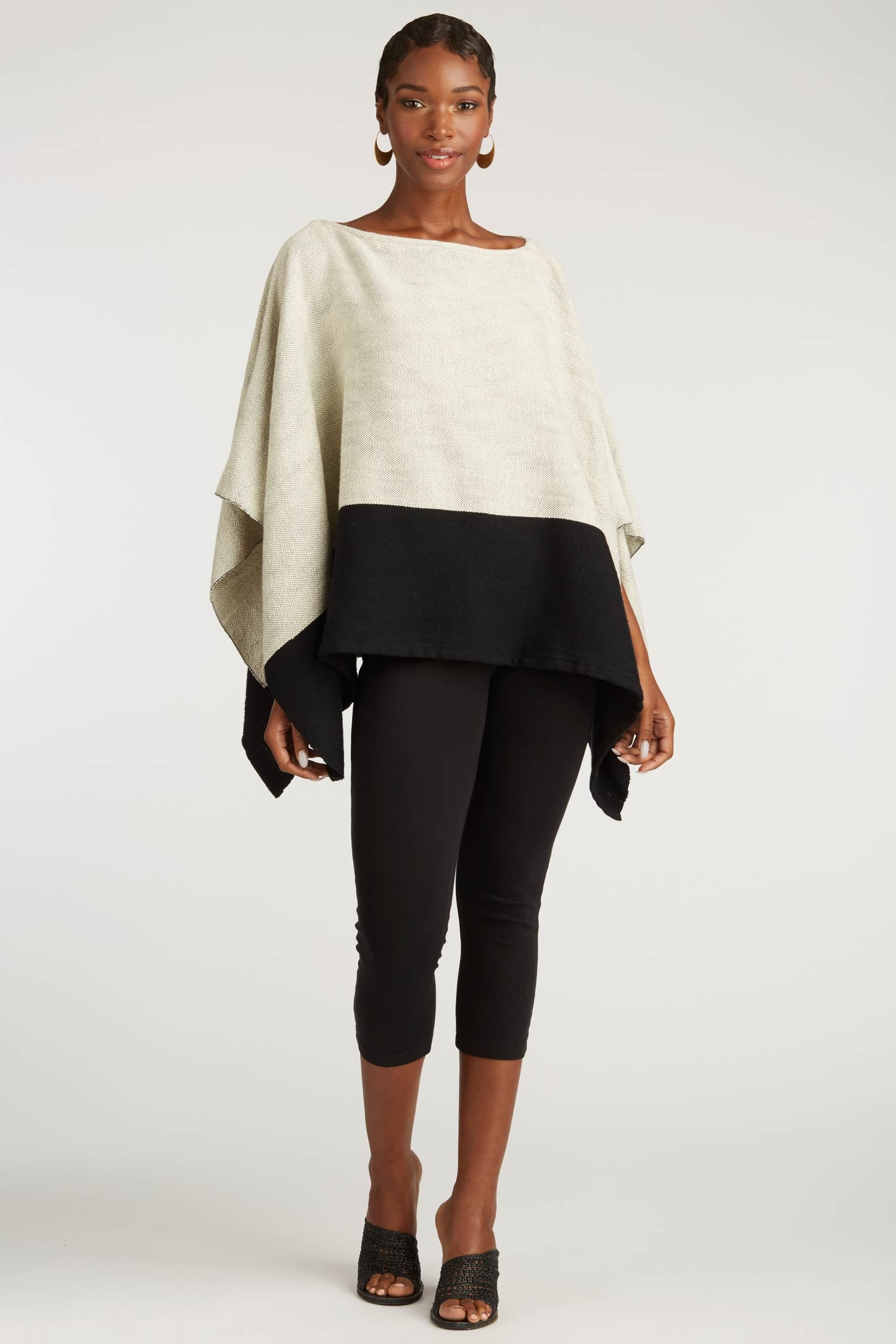 Womens Woven Poncho | Organic Cotton Clothing | Fair Trade