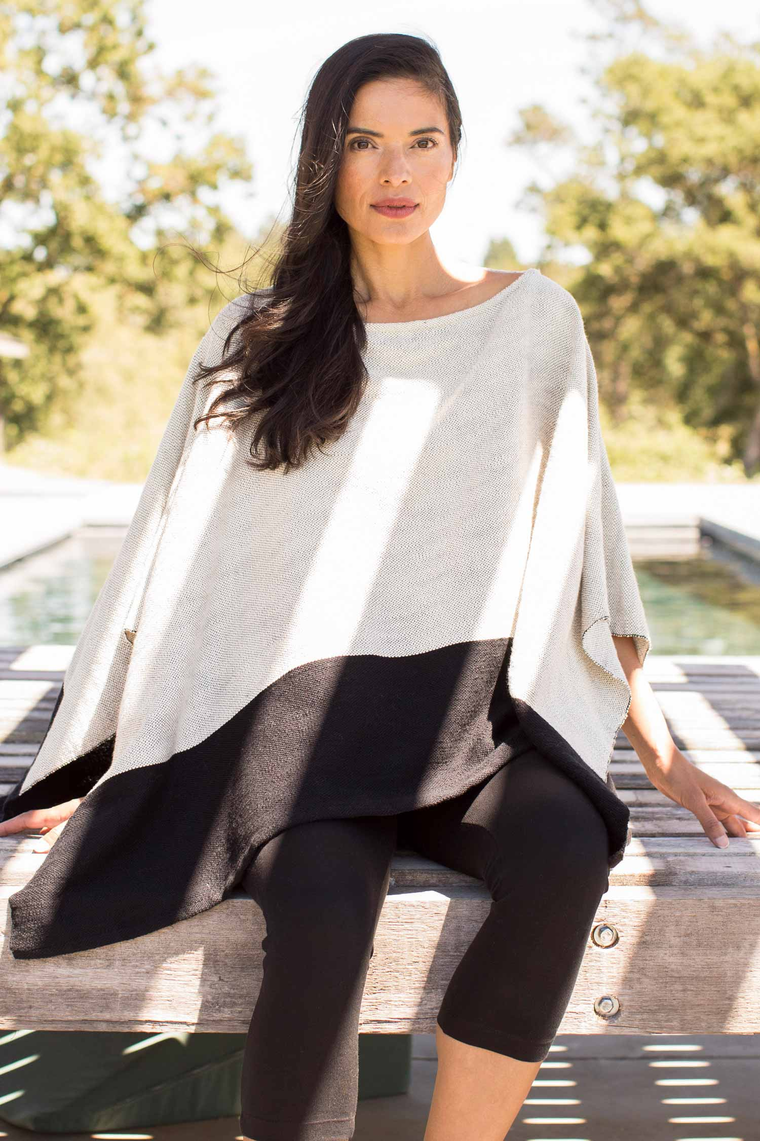 Womens Poncho | Handwoven Organic Cotton Clothing