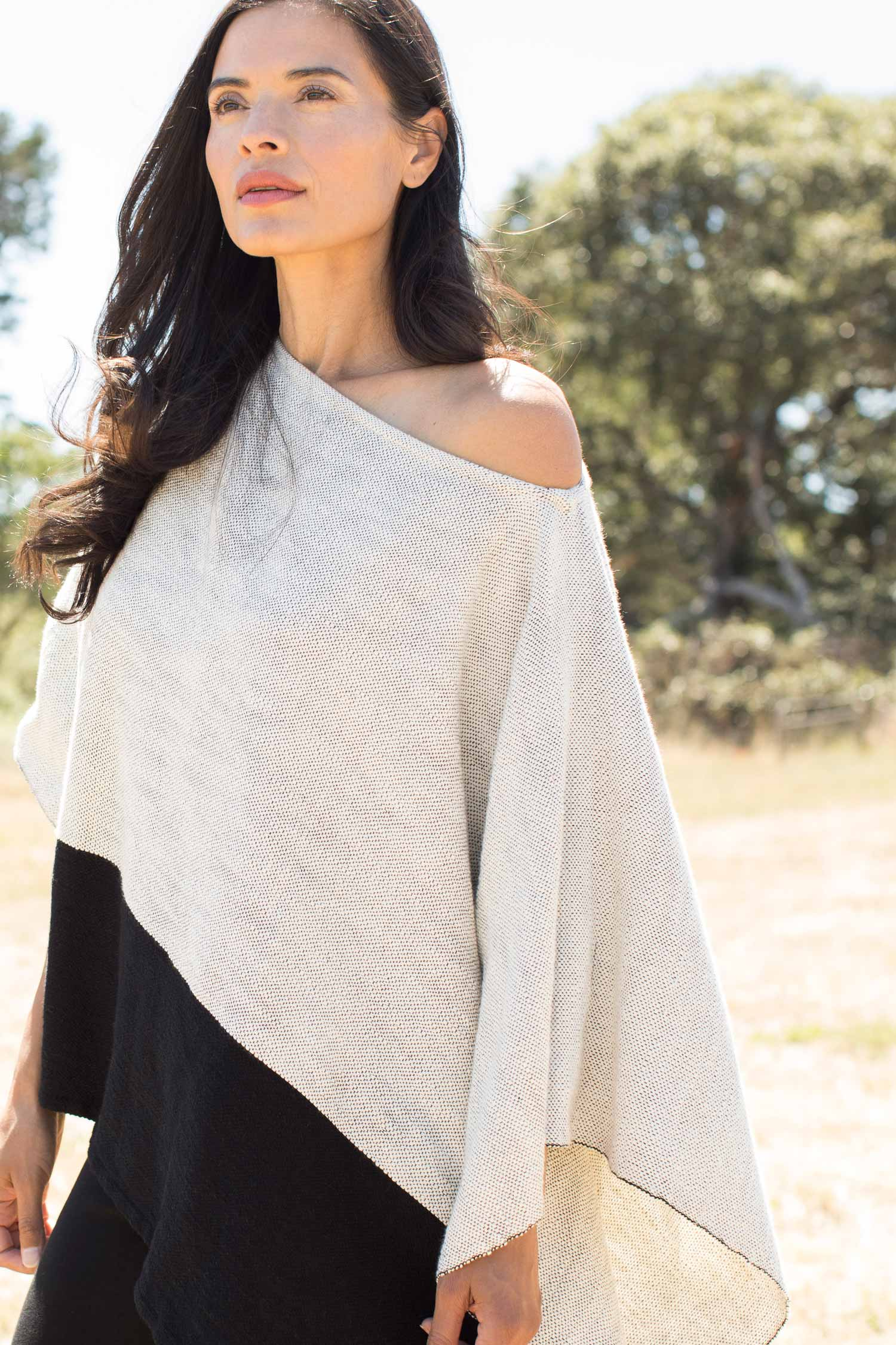 Womens Woven Poncho | Organic Cotton Clothing | Indigenous