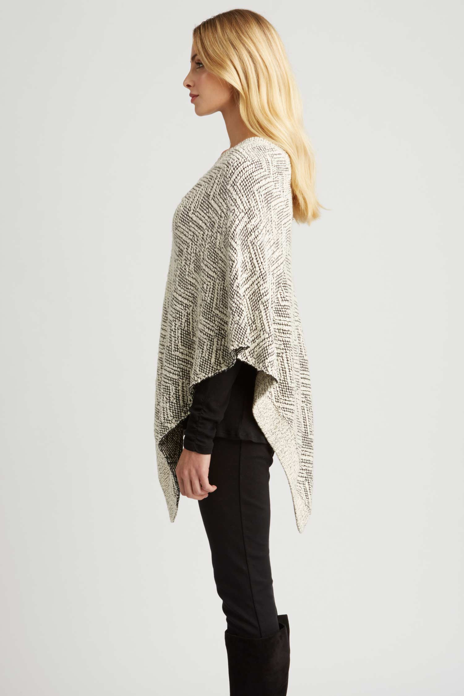 Womens Knit Poncho in Organic Cotton | Sustainable Fashion