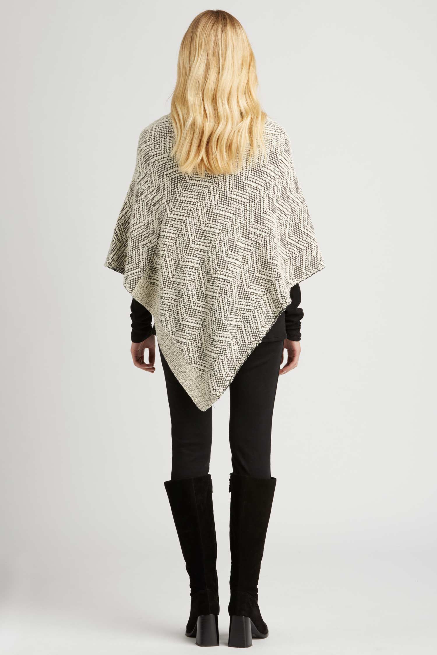 Womens Knit Poncho in Organic Cotton | Eco Fashion