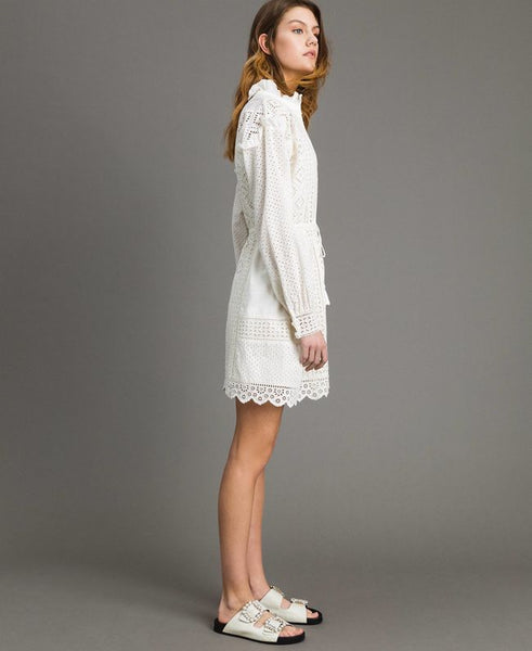 TWIN SET - Cotton Embriodered Dress