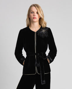 TWIN SET - Giacca Velvet Jacket