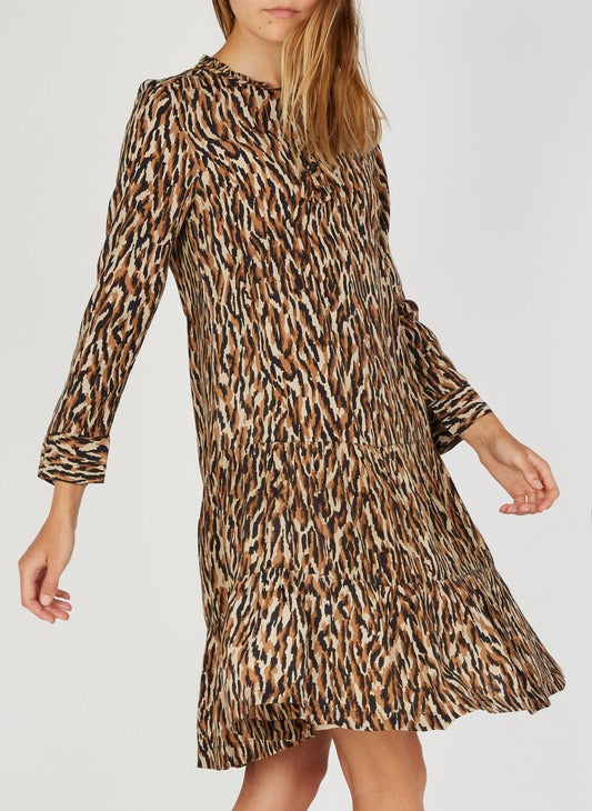 STELLA FOREST - Printed Henley  Dress