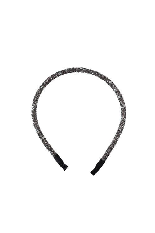 SARAH J CURTIS - Love Forever Headband CHARCOAL