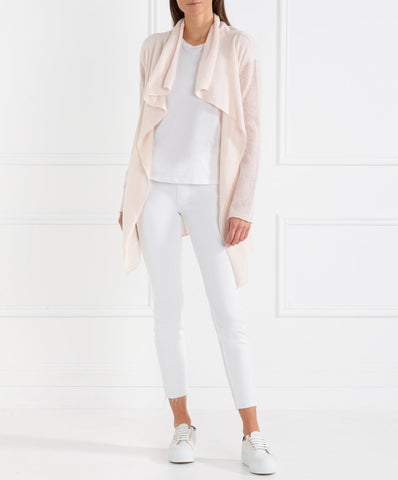 BRODIE CASHMERE - Miss Duffy Cardigan LIGHT PINK
