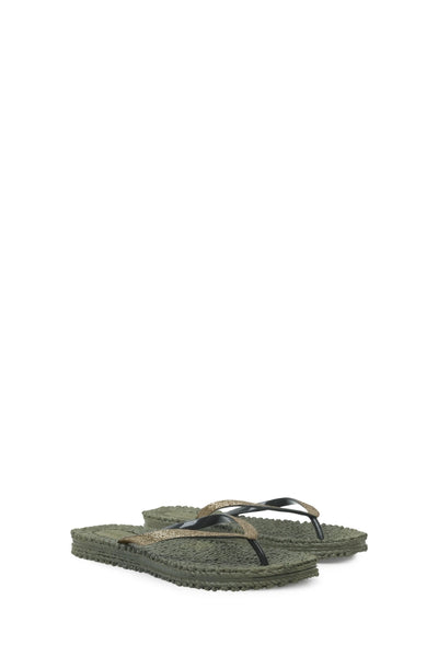 "ILSE JACOBSEN - Cheerful Thongs ""Army/Khaki"""