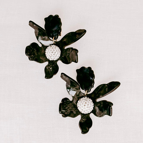 SABLE & DIXIE - Wilde Bloom Earrings 'Black'