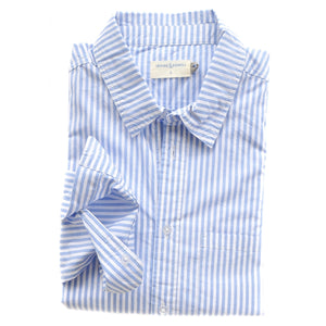 IRVING & POWELL - Franklin Stripe Shirt SKY/WHITE