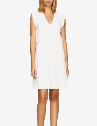 TWIN SET - Milano Pleated Dress 'Ivory'