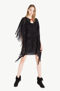 TWIN SET - Jacquard Lace Poncho