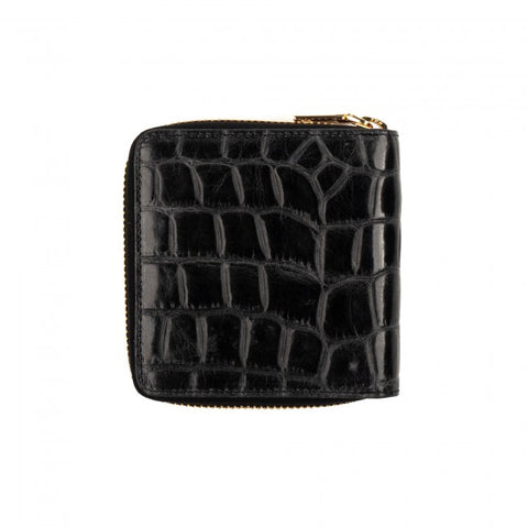 VASH - Atlas Black Croc Zip Wallet