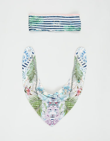 CAMILLA - Babies Headband & Bib Set BEACH SHACK
