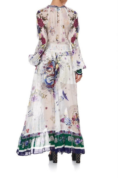 CAMILLA - Blouson Sleeve Wrap Dress GENTLE MOON