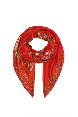 CAMILLA - Large Square Scarf FORBIDDEN FRUIT