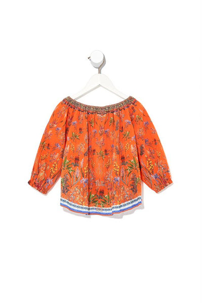 CAMILLA KIDS -  Infants Elasticated Neck Blouse GONE COAST