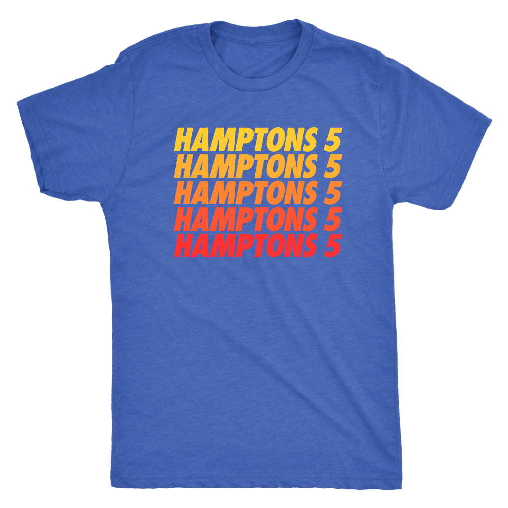 Hamptons 5 Stacked Tee - Vintage Royal