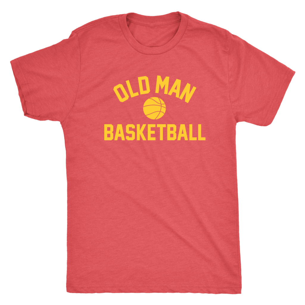 Old Man Basketball Tee - Vintage Red