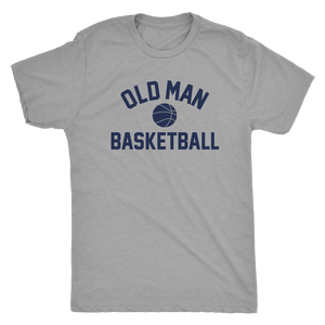Old Man Basketball Tee - Heather Grey