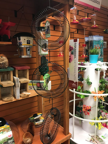 Hanging peanut wreath