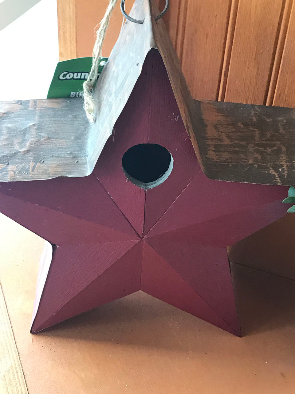 Star shaped birdhouse
