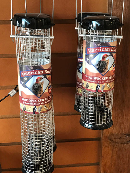 Woodpecker tube feeder