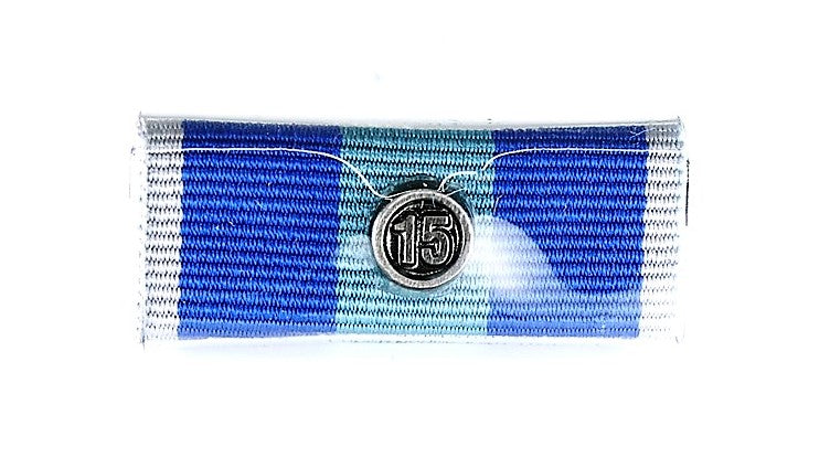 QPS Ribbon Bars - Plain - QPS Medal - 15 Years - Queensland Police Health & Recreation Association
