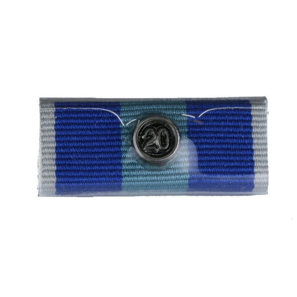 QPS Ribbon Bars - Plain - QPS Medal - 20 Years - Queensland Police Health & Recreation Association