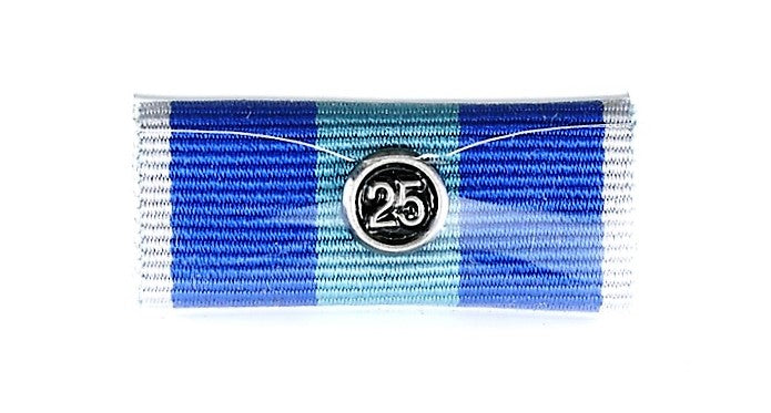 QPS Ribbon Bars - Plain - QPS Medal - 25 Years - Queensland Police Health & Recreation Association