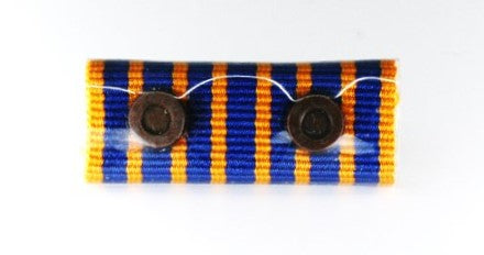 QPS Ribbon Bars - Two Roundel - National Medal - 2 x 10yr Rosette - Queensland Police Health & Recreation Association