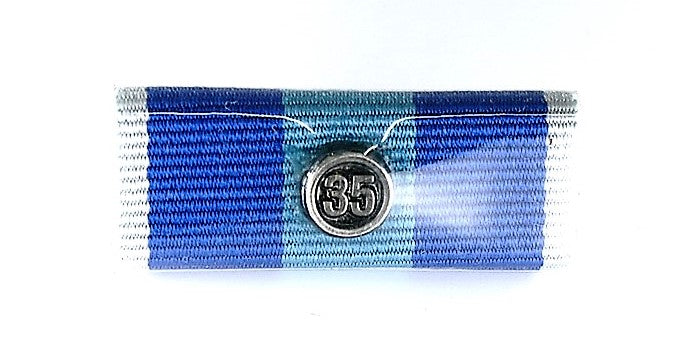 QPS Ribbon Bars - Plain - QPS Medal - 35 Years - Queensland Police Health & Recreation Association
