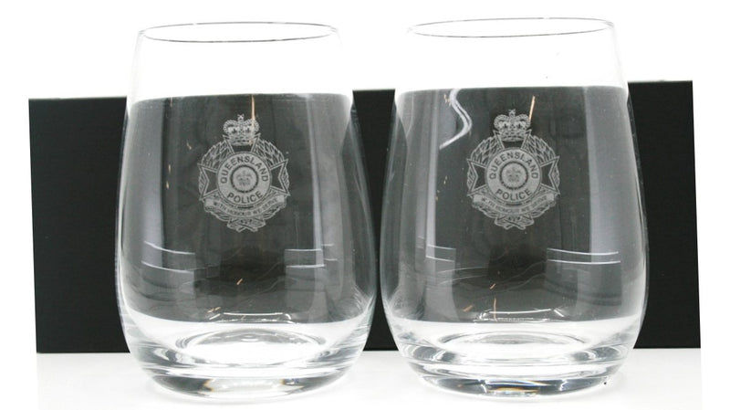 Queensland Police Service Wine Glasses