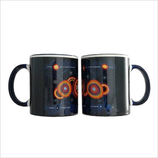 QPS Indigenous Art Mug - Queensland Police Health & Recreation Association