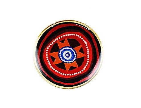 Indigenous Round Pins - Queensland Police Health & Recreation Association