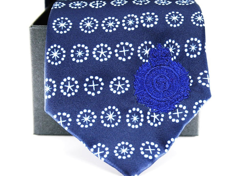 QPS Indigenous Tie w/ Tie Box - Queensland Police Health & Recreation Association