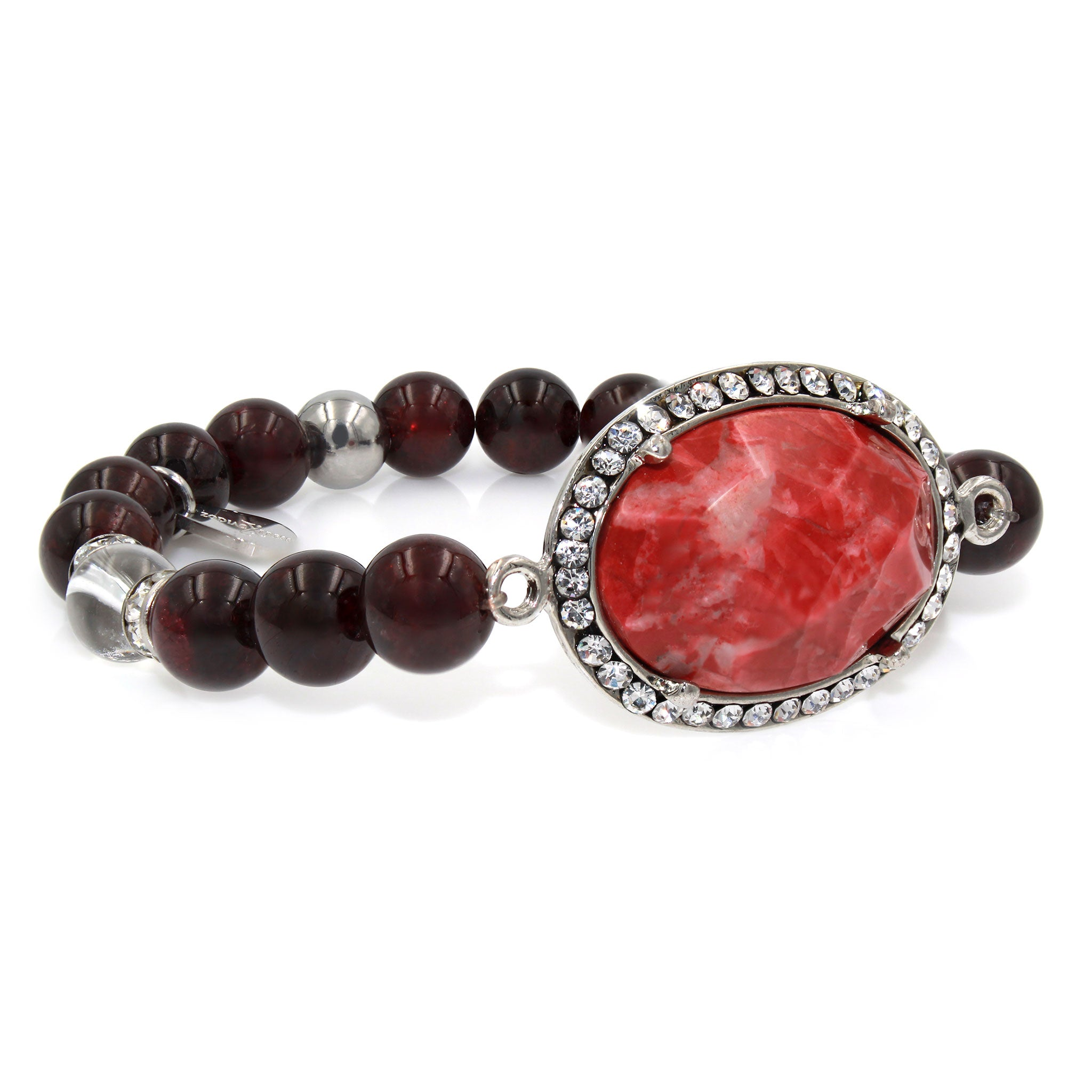 round watches jewelry today overstock tcw black bracelet shipping silver red or spinel product tennis sterling garnet free