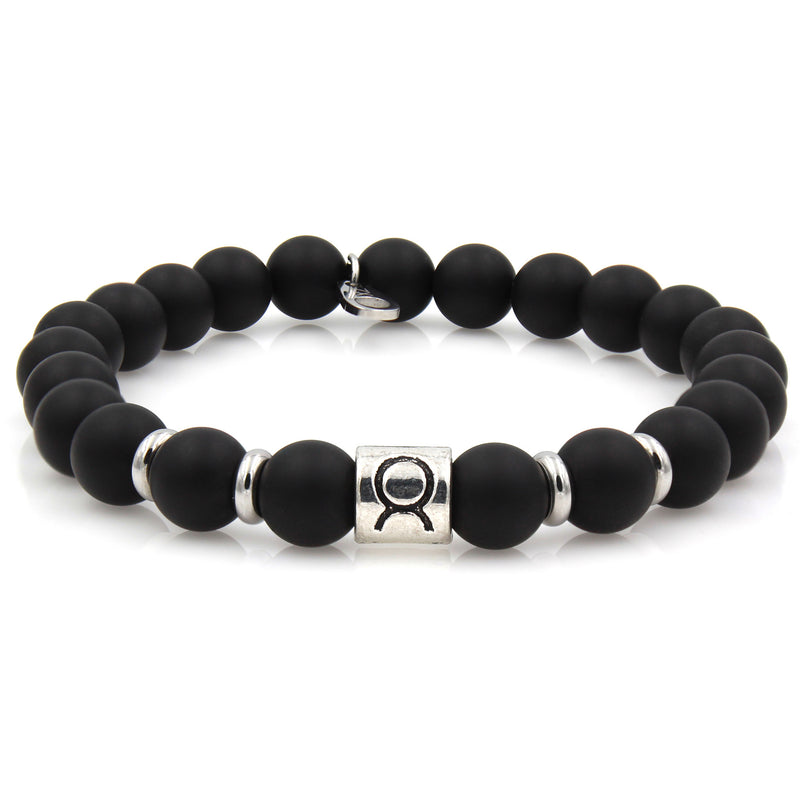 gemstone black sign products bracelets stone onyx ring zodiac bracelet beads variations