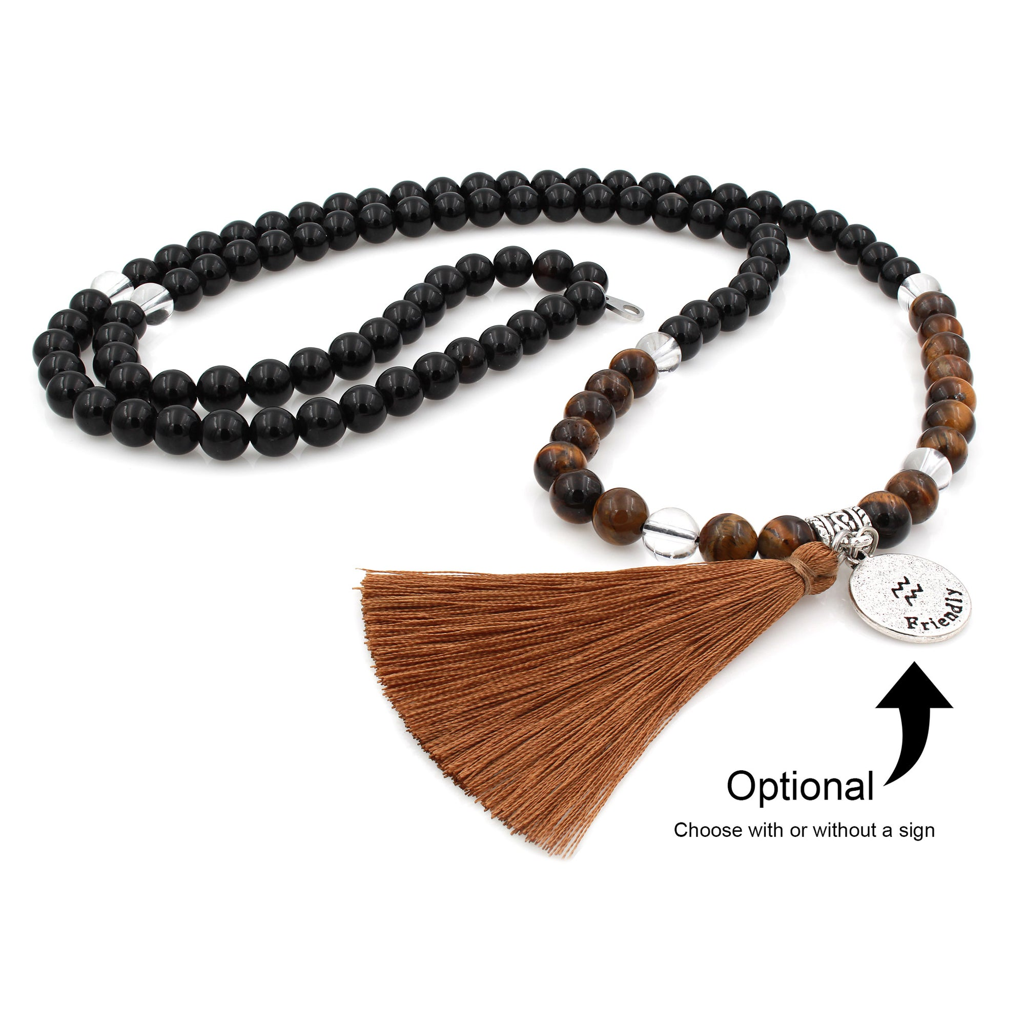 prayer shop buddhist lapis shanti necklace beads mala